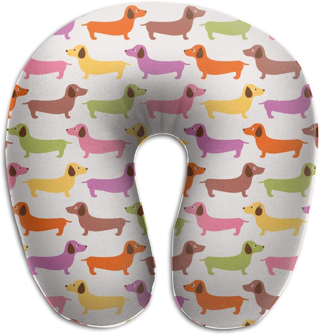 Dachshund Dog Memory Foam Travel Pillow