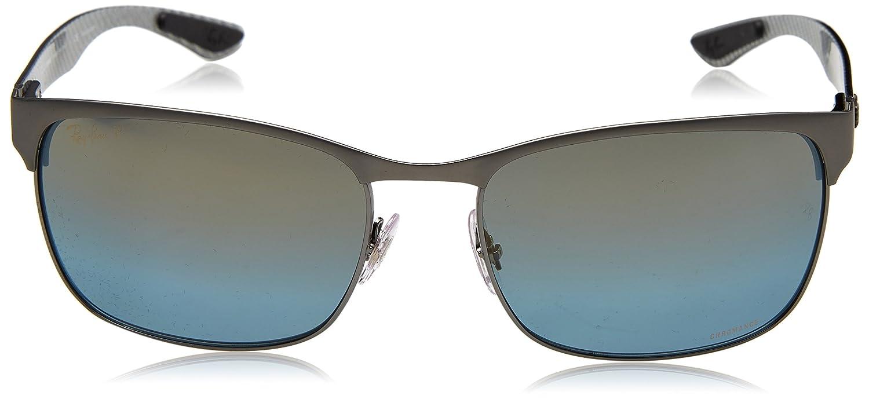 f3643e9886 Amazon.com  Ray-Ban Men s 0rb8319ch9075j060metal Man Sunglass Polarized  Iridium Rectangular TOP ON Matte Gunmetal