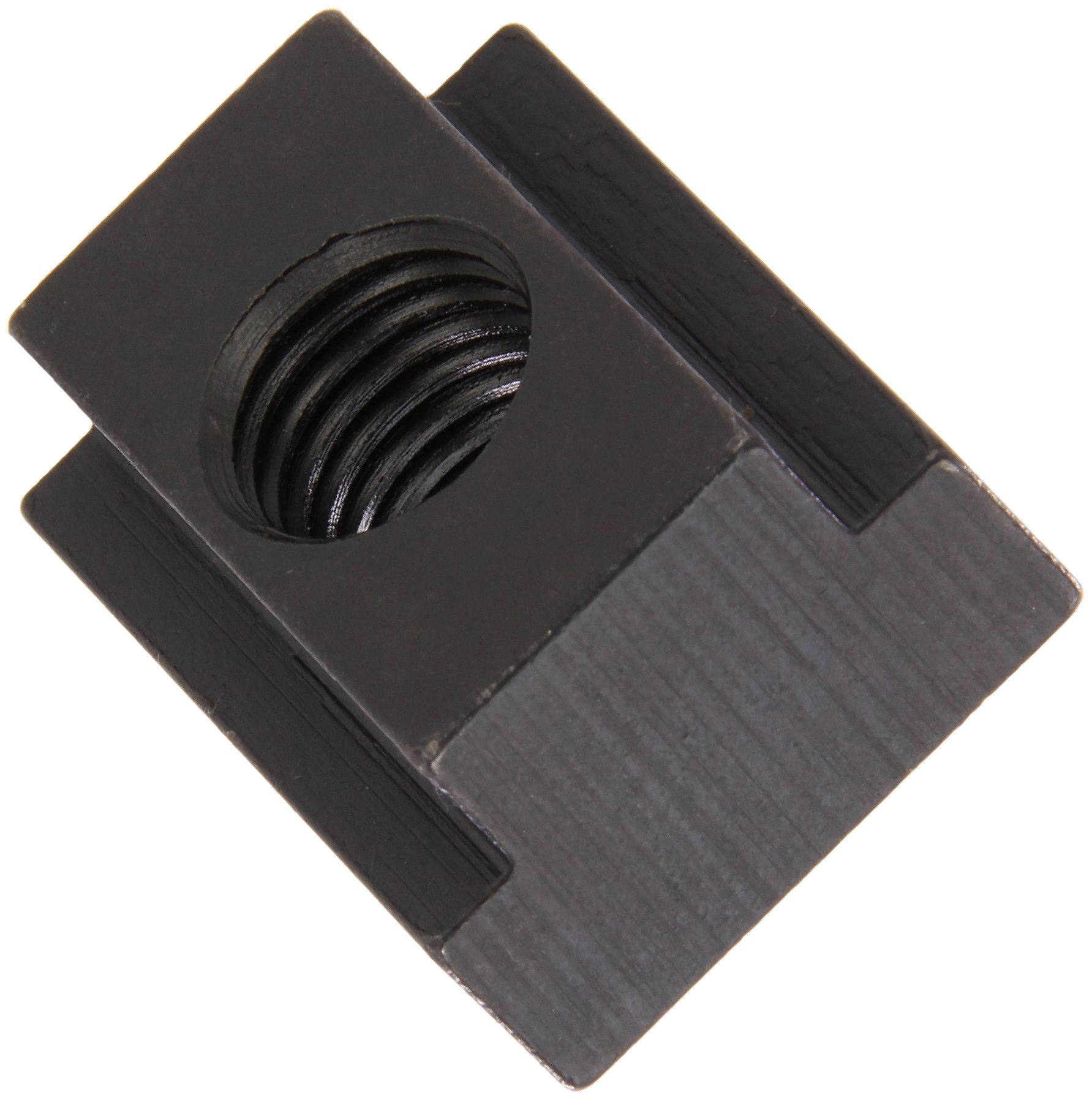 1018 Steel T-Slot Nut, Black Oxide Finish, Tapped Through, 5/16''-18 Threads, 1/2'' Height, 7/16'' Slot Depth, Made in US (Pack of 5) by Small Parts