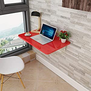 RXBFD Wall Mounted Drop Leaf Table Folding Wall Table, Stable Sturdy Construction, Drop Leaf Tables for Small Spaces