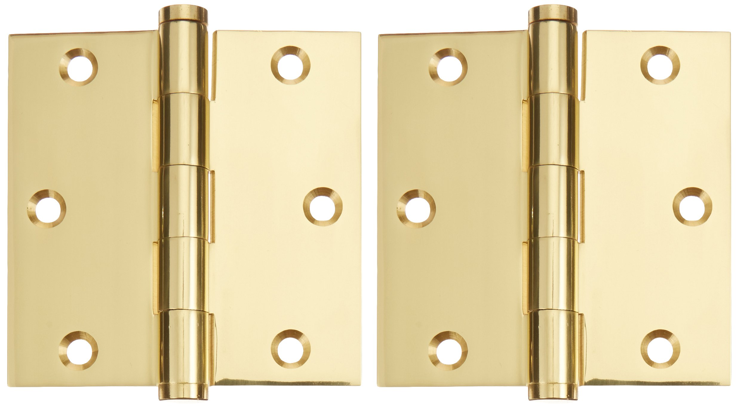 Deltana DSB353 Solid Brass 3 1/2-Inch x 3 1/2-Inch Square Hinge by Deltana