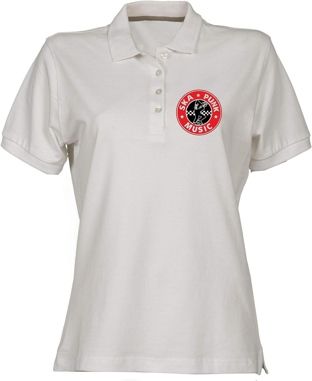 Polo para Mujer Blanco WTC1833 Ska Punk: Amazon.es: Ropa y accesorios