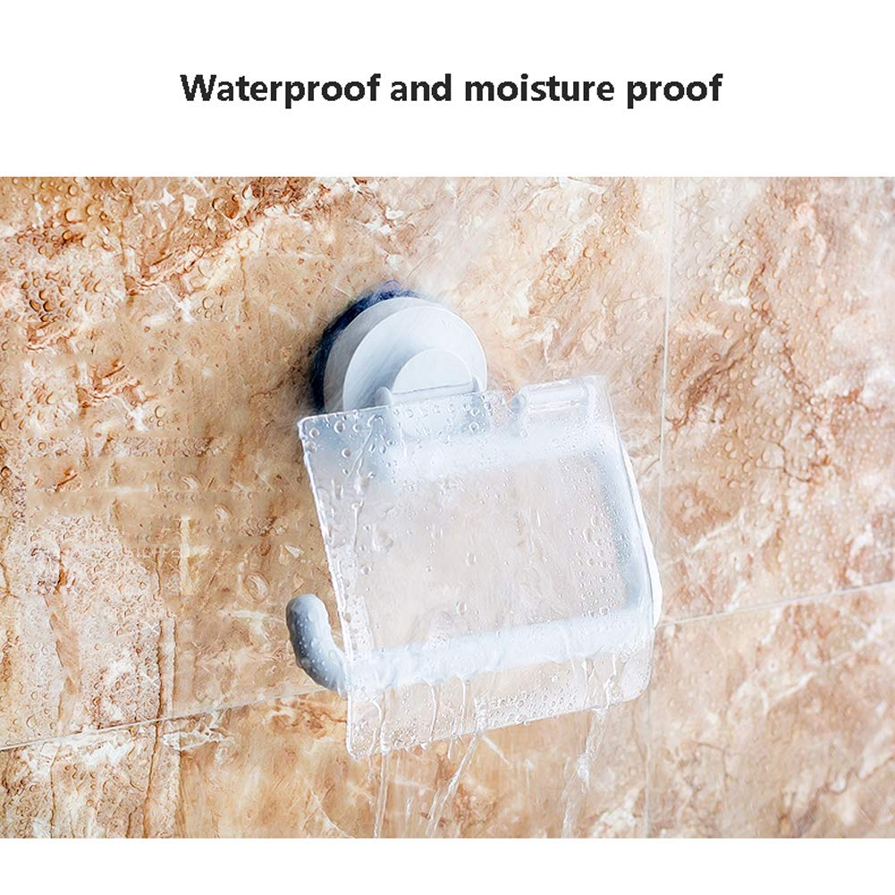 Q&F Toilet Paper Holder,Tissue Roll hanger- Wall Mount,Waterproof,Moisture Proof,Rust Protection,Plastic-B by Q&F (Image #2)
