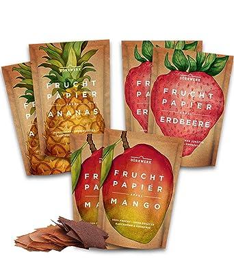 Frutas secas en seis paquetes de papeles de fruta (6x 40 g) – bocadillos