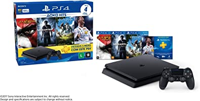 Sony CUH-2014A Kit PlayStation 4 Hits com 4 Jogos, Preto