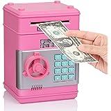 Fresh Friend Electronic Piggy Bank, Kids Money Bank, Auto Scroll Paper Money Saving Box, Safe Password Coin Bank with Lock, G