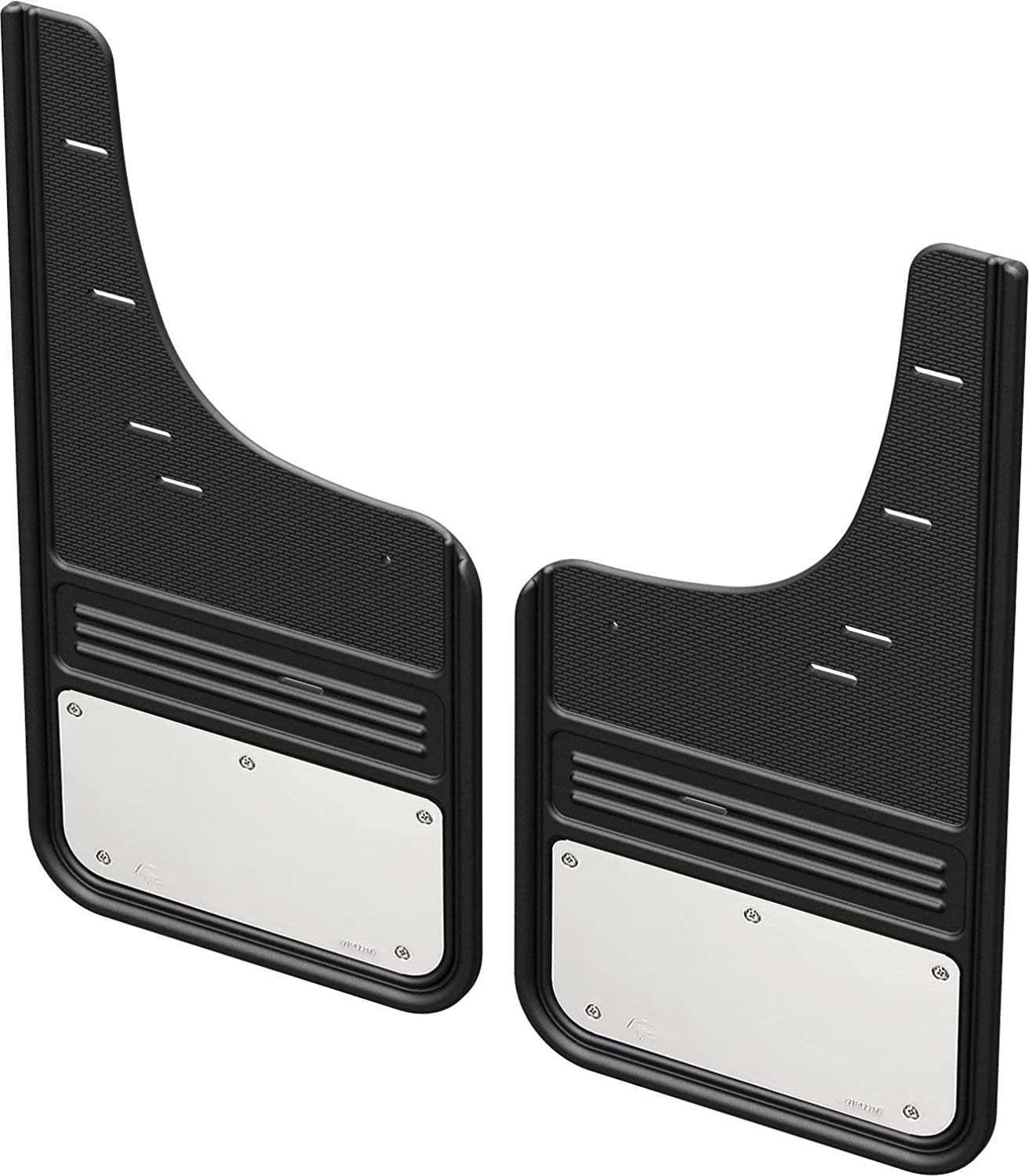2009-18 RAM Front - with OEM Flares Gatorback RAM Stainless Steel Plate No-Drill Truck Mud Flaps