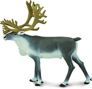 Safari Ltd. Caribou Realistic Hand Painted Toy Figurine Model Quality Construction from Phthalate, Lead and BPA Free Materials for Ages 3 and Up