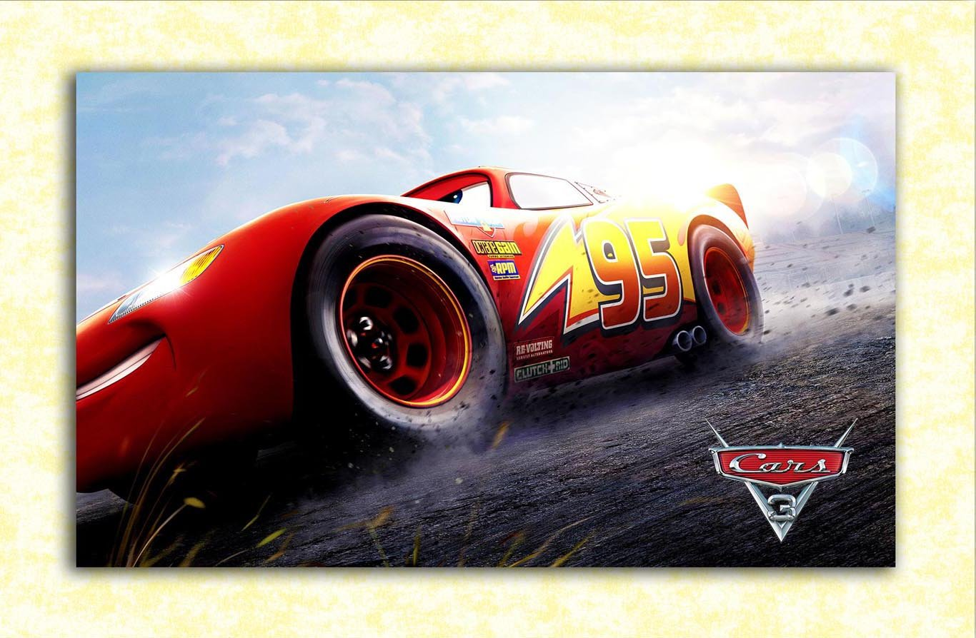 Tamatina Hollywood Movie Wall Poster Cars 3 Lightning Mcqueen