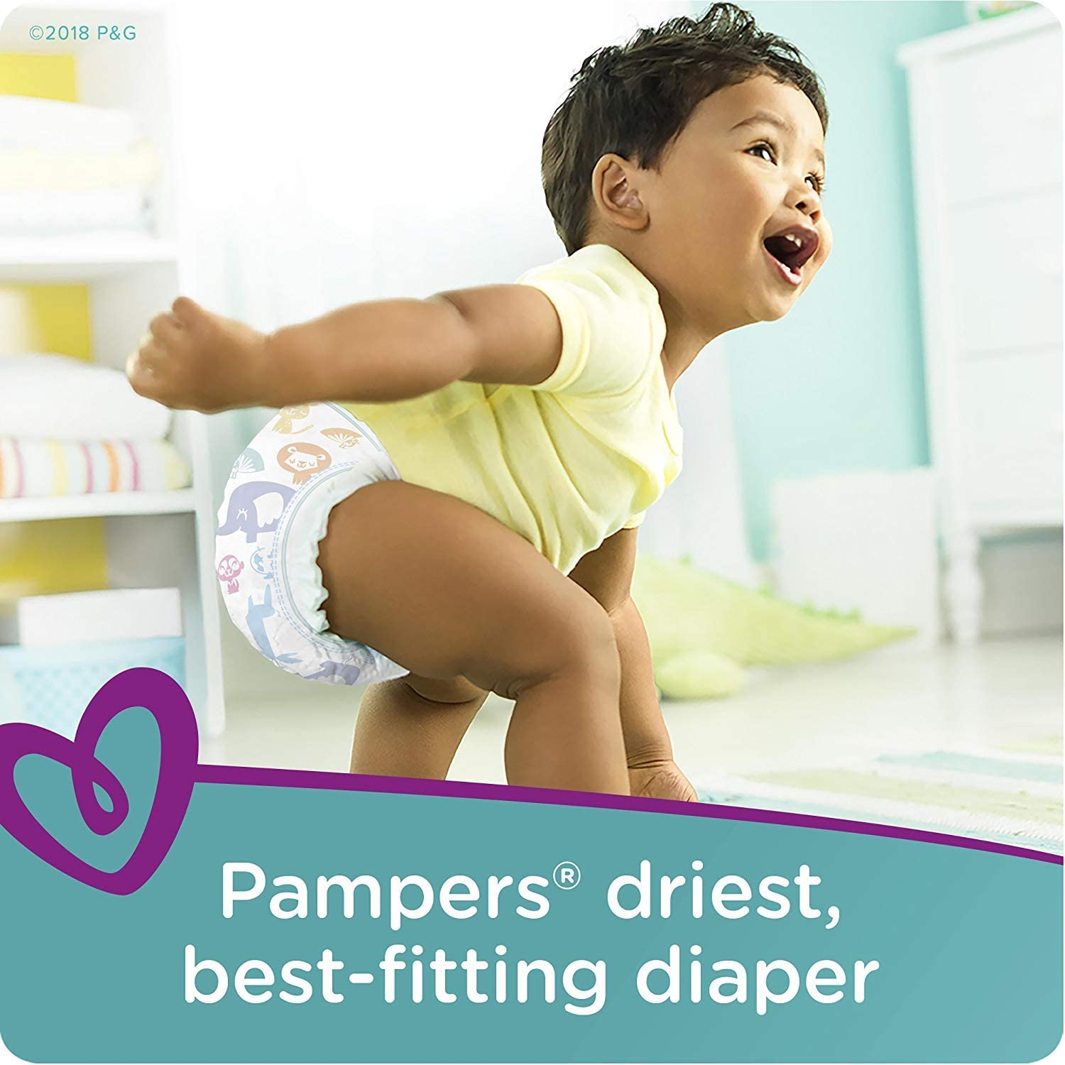 Pampers Cruisers Disposable Baby Diapers and Water Baby Wipes Sensitive Pop-Top Packs 160 Count and Baby Wipes 336 Count Diapers Size 4