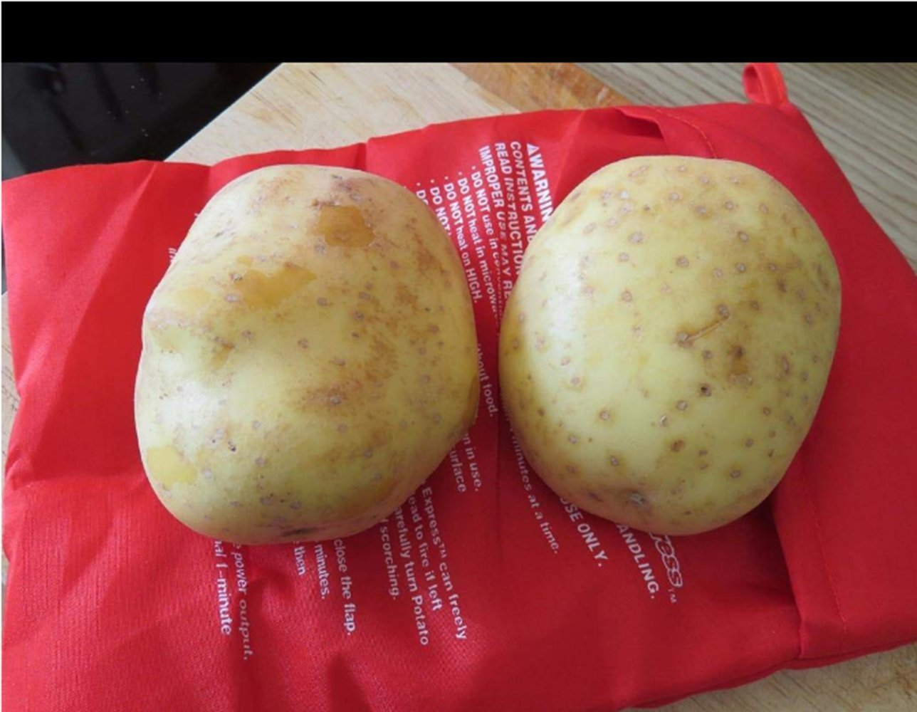 Bolsa para Patatas en Microondas bolsa de patatas EXPRESS horno Baked Potato bolsa 4 minutos rápido lavable a COOK, reutilizable, pack de 2 small