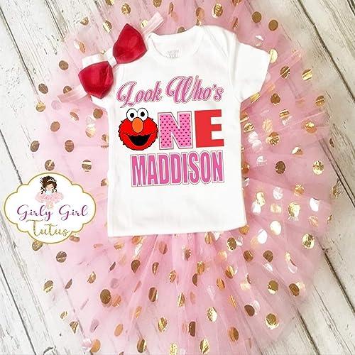 Baby Girl 1st Birthday  Set 1st Birthday Girl Outfit First Birthday Girl First Birthday Outfit Baby Girl Birthday Shirt