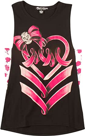 826f4e8227f8 Amazon.com  Metal Mulisha Youth Girls Ribbon Dancer Muscle Tank ...