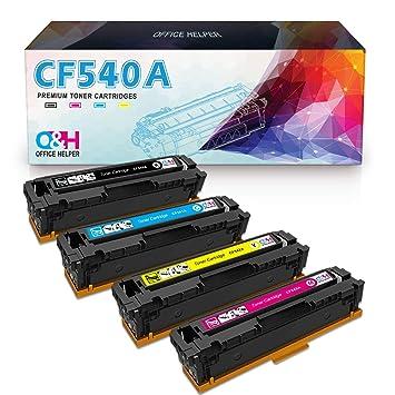 OFFICE HELPER 203A CF540A Cartuchos de Tóner Compatibles para HP ...