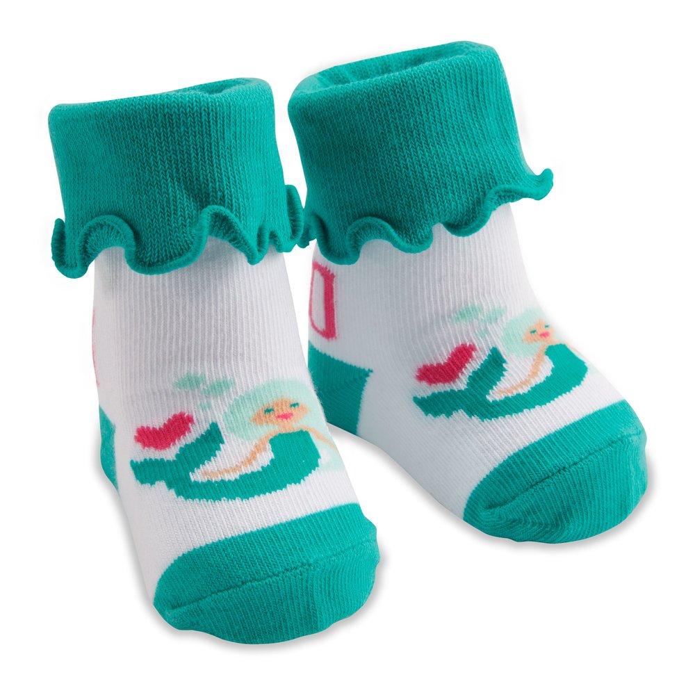 Mermaid Ruffled Baby Socks 0-12 Months Izzy /& Owie