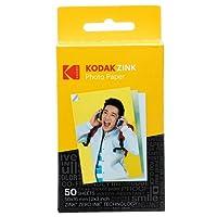 Kodak ROD-Z2X350 Sticky Backed ZINK Photo Paper Compatible With Kodak Printomatic Instant Camera, 5x7.6 cm, 50 Sheets