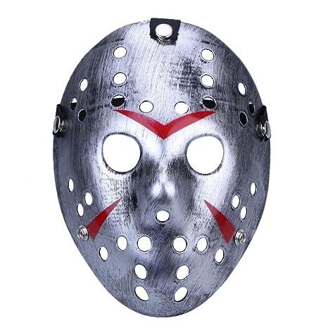 ecotrumpuk Máscara de Halloween Mascara Danza Reunión Jason Máscara Horror Máscara Divertida