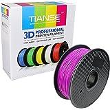 TIANSE Purple PLA 3D Printer Filament 1.75mm 1KG Spool Filament for 3D Printing, Dimensional Accuracy +/- 0.03 mm