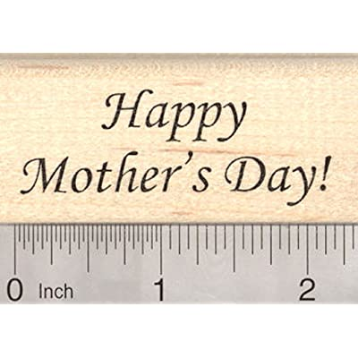 Happy Mother's Day Rubber Stamp: Arts, Crafts & Sewing