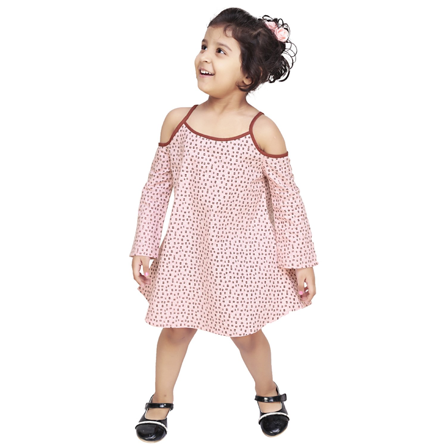 b14d4dcce30d Olele® Girls Black and White Check Strap Dress with Edie Dot Baby ...