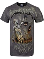 T Shirt Justice Neon Metallica (Grigio)