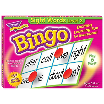 Amazon sight words level 2 bingo game toys games sight words level 2 bingo game solutioingenieria Image collections