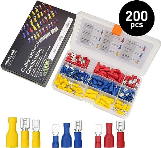 100 Schnellverbinder Sortiment Stromdieb Set Kabel-Verbinder Abzweigverbinder SD