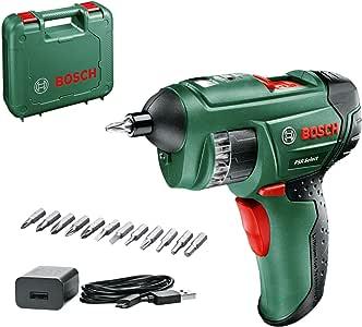 Bosch Home and Garden 0603977005 Accuschroevendraaier PSR Select, 1,5 Ah, 3,6 Volt-Systeem, met Micro-USB, met Koffer, Groen