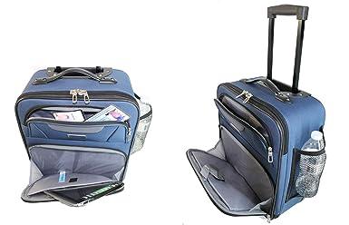 Amazon.com | Maleta personal con ruedas para debajo del asiento la puede usar para America. Frontier, Spirit | Suitcases