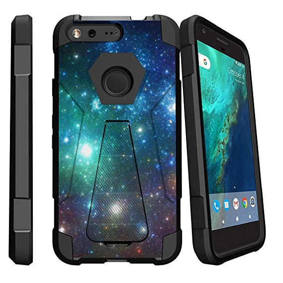 sports shoes b031a 0ce96 MINITURTLE Case Compatible w/ Google Pixel Slim Case| Pixel Stand Case  [SHOCK FUSION] Advanced Armor Rugged Slim Heavy Duty Stand Cover Shell w/  ...