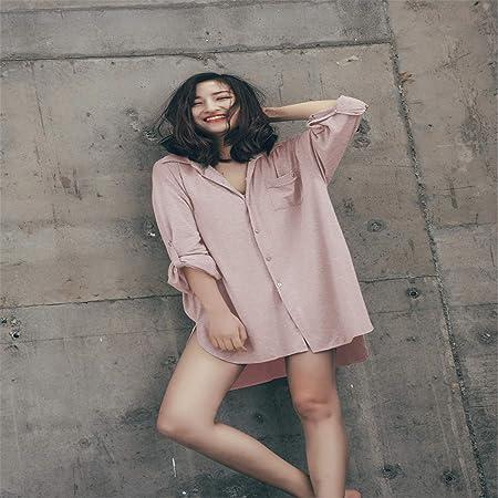BABIFIS Camisón Modal Camisa de Gran tamaño Falda Señoras Pijamas ...