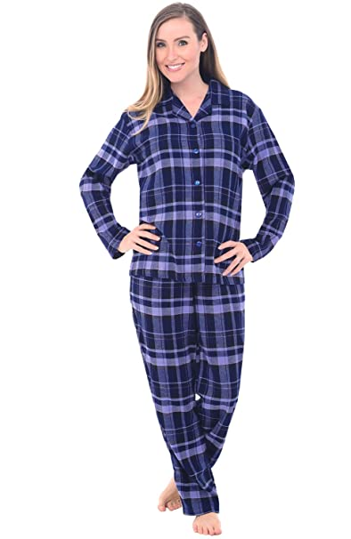 82bce3df02 Image Unavailable. Image not available for. Color  Alexander Del Rossa  Womens Flannel Pajamas