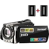 Kenuo HDビデオカメラ デジタルビデオカメラ 2400万画素 SDカード(最大32GB) バッテリー*2 (WIFI搭載)