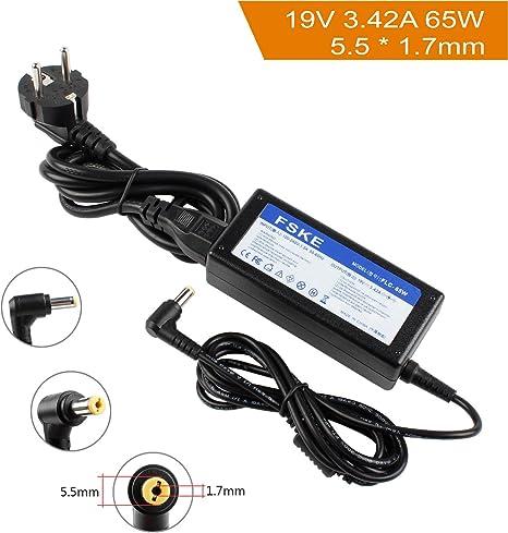 Notebook Laptop Caricabatterie Alimentatore 19v 3.42a 65w per Acer Aspire 5315