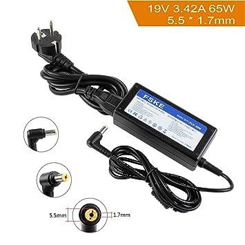 FSKE 65W 19V 3.42A Cargador para Portatil Acer Aspire 1 3 5 A515 5735Z 5732Z 5742 5749 7741G V3-571G E5-573 E1-571 ES1-571 E1 ES1 V3 E5 E15 Serie AC ...