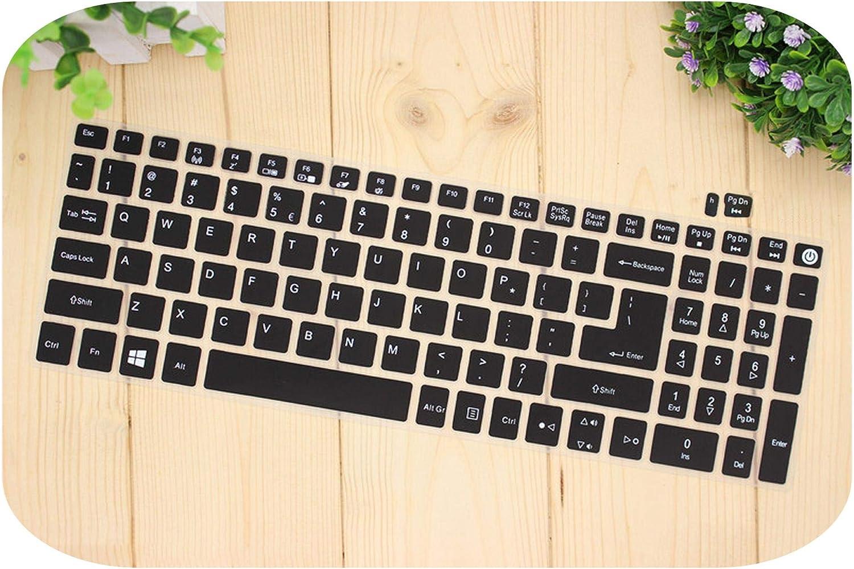 Protector de teclado de silicona para Acer Aspire E15 E 15 E5 576 E5576 V3 V15 E5 553G Aspire 3 5 7 Series talla /única transparente 575G