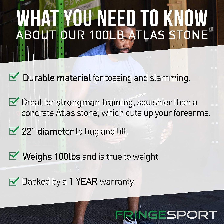 Amazon com : Fringe Sport 100lb Safety Atlas Stone/Heavy Medicine