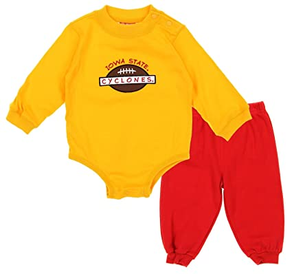 official photos 92e6e 7747f Iowa State Cyclones NCAA Baby Boys Creeper Top and Pants Set, Gold   Red