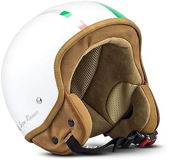 SOXON SP-301 Italy Casco Demi-Jet Mofa Bobber Vespa Helmet Retro Scooter Piloto
