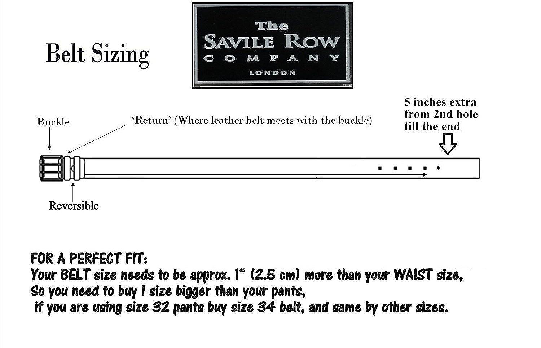 Savile Row Mens Dress Belt 35mm 138 Wide Black Brown Reversible