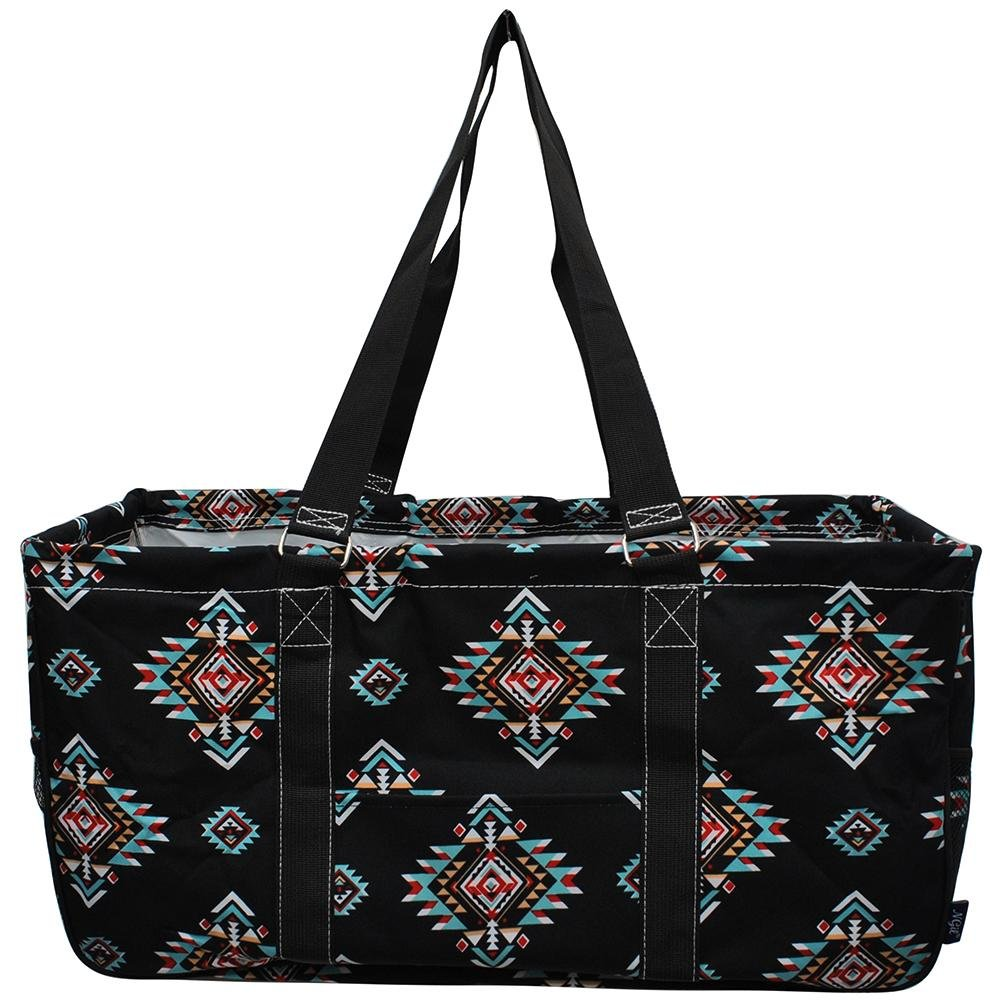NGIL All Purpose Open Top 23'' Classic Extra Large Utility Tote Bag Spring 2018 Collection (Southern Tribe Black)