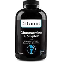 Glucosamina Complex con Condroitina, MSM, Boswellia y Quercetina, 365 Cápsulas | Para el dolor en las articulaciones…
