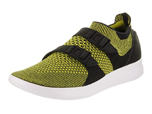 8a124cc91214 Nike Women s Air Sockracer Flyknit Black White Yellow Strike Running Shoe  5.5 Women US