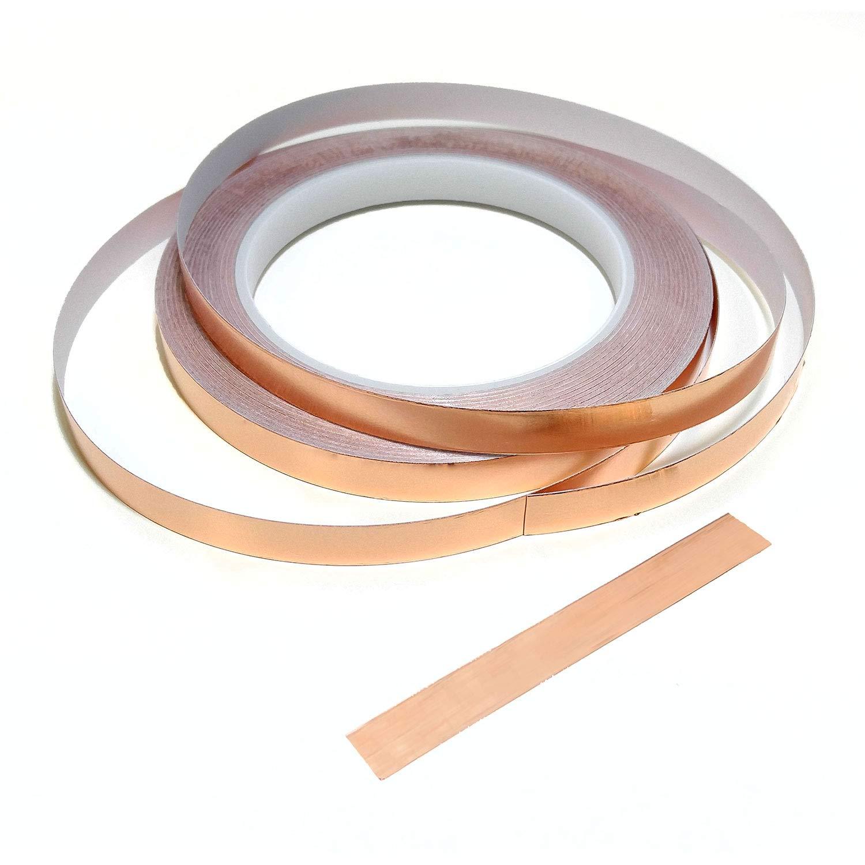 25m Copper Slug Tape Pest Control Adhesive Copper Slug Snail Barrier Repellent .