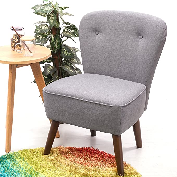 Panana - Silla de salón tapizada en estilo retro, color gris ...