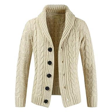 60305b14b6 Riou Herren Strickjacke Cardigan Open Jacke Knit Beiläufige Dünne Mantel  Sweatshirt Sweatblazer Männer Herbst Winter Zip