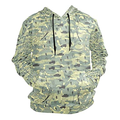 Image Unavailable. Image not available for. Color  Jeffre Simp Men s Hooded  Sweatshirt Army Camo Military Pullover Fashion Hoodie Sweater 488a11a2b