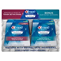 CREST 640256 3D Whitestrips W/1 Hr Express Strips