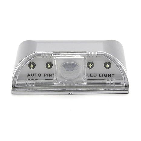 kompassswc PIR Sensor de movimiento de 4 ledes para puerta Iluminación Puerta automática para candado iluminación