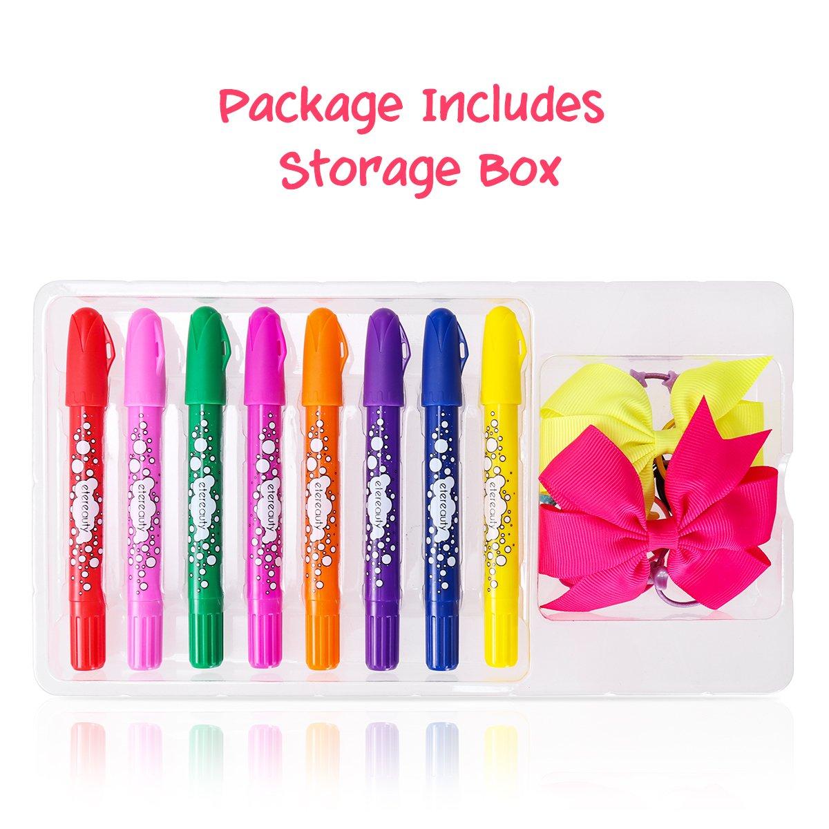 Hair Chalk For Kids Temporary Hair Chalk Pens 8 Colourful